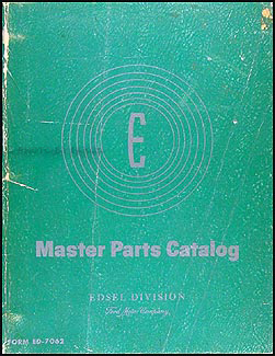 1958 Edsel Canadian Mechanical Parts Book Original