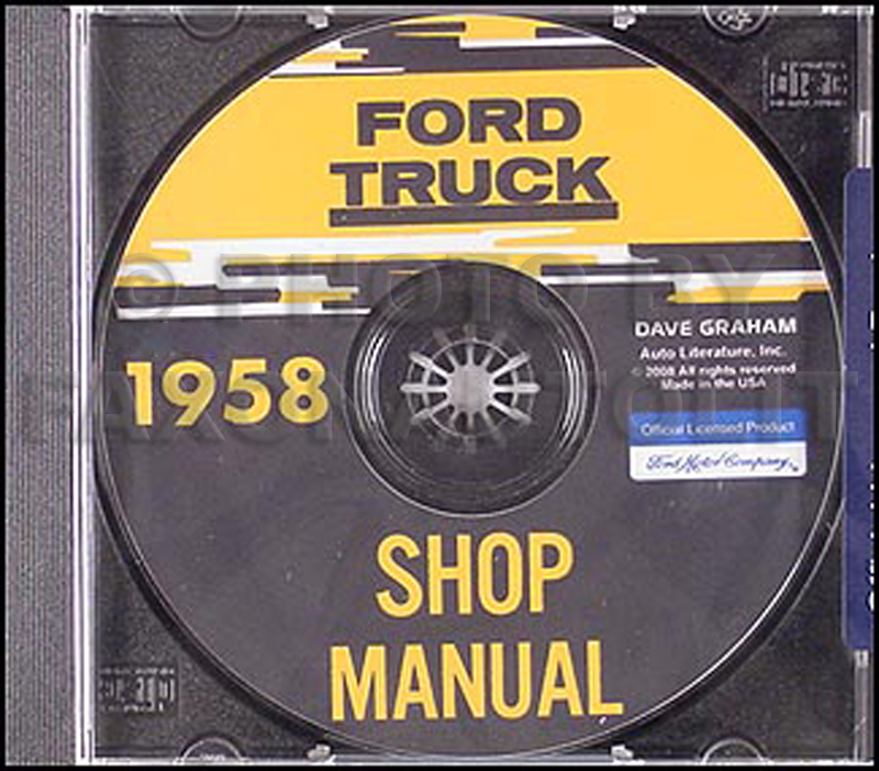 1958 Ford Truck Shop Manual CD-ROM