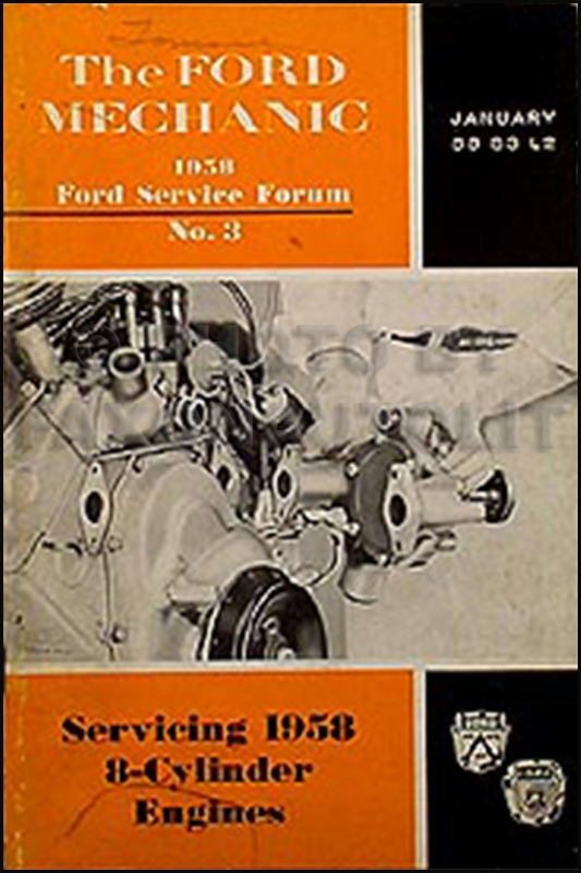 1937-1948 Ford and Mercury V8 Engine Repair Manual Reprint