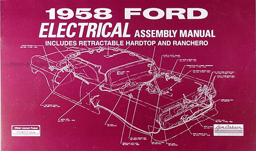 1958 Ford Car Reprint Electrical Assembly Manual