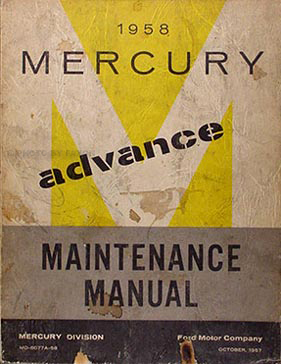 1953 Lincoln & Mercury Shop Manual Original Supplement