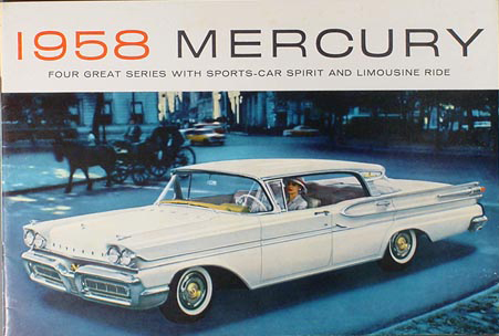1958 Mercury Full Line Original Sales Brochure--All Models