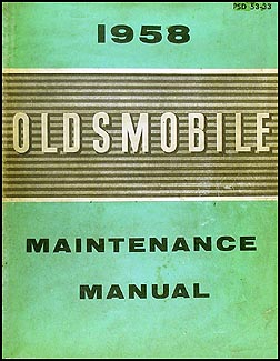 1958 Oldsmobile CANADIAN Repair Manual Original