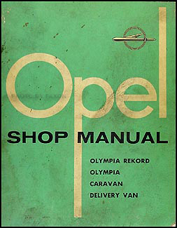 1958 Opel Repair Manual Original