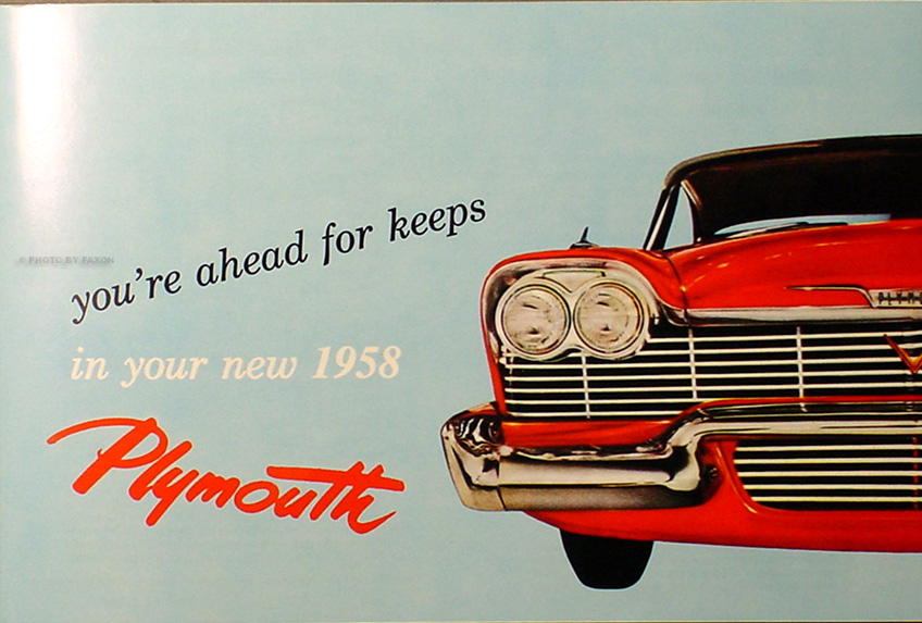 1958 Plymouth Owners Manual Reprint