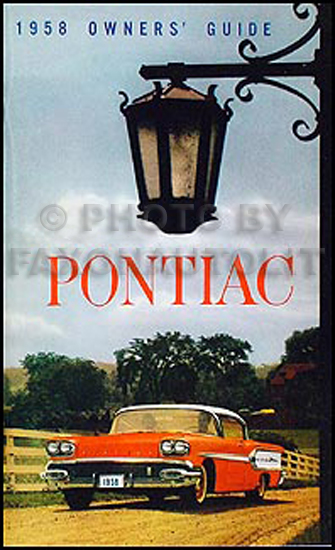 1958 Pontiac Reprint Owner's Manual