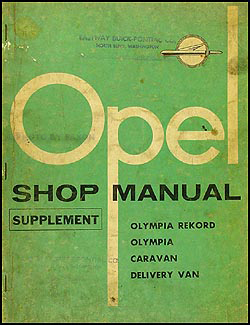 1959-1960 Opel Repair Manual Original Supplement
