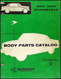 1959-1960 Studebaker Body Parts Book Original