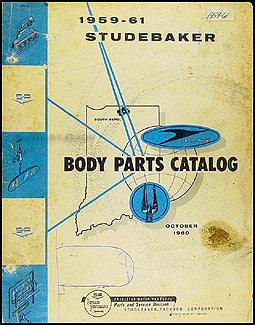1959-1961 Studebaker Car Mechanical Parts Book Original