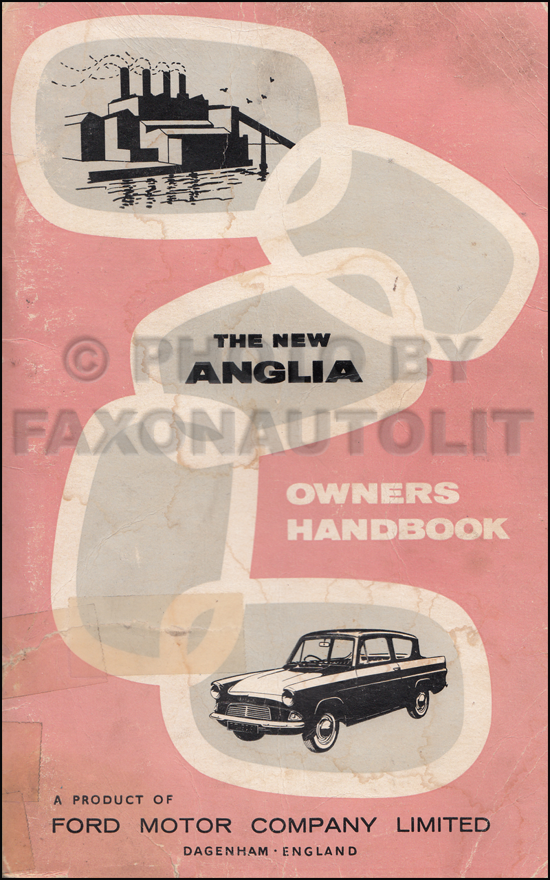 1960-1962 Ford Anglia Owner's Manual Original
