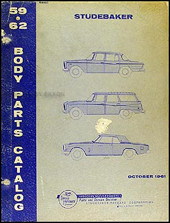 1959-1962 Studebaker Body Parts Book Original
