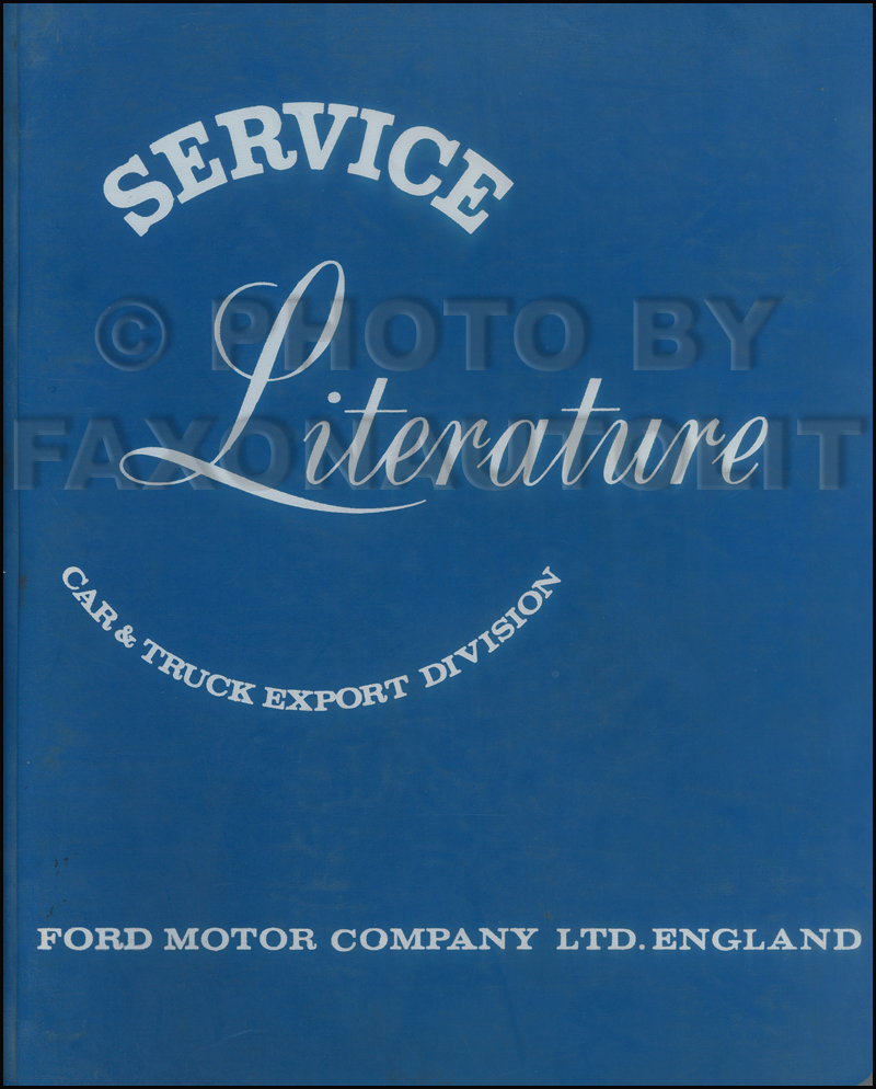 1959-1963 Ford Anglia Prefect Repair Shop Manual Original