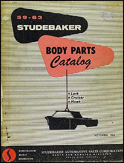 1959-1963 Studebaker Body Parts Book Original