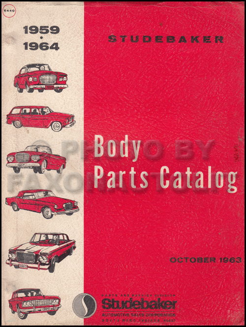 1959-1964 Studebaker Body Parts Book Original
