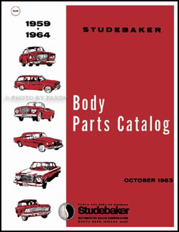 1959-1964 Studebaker Body Parts Book Reprint