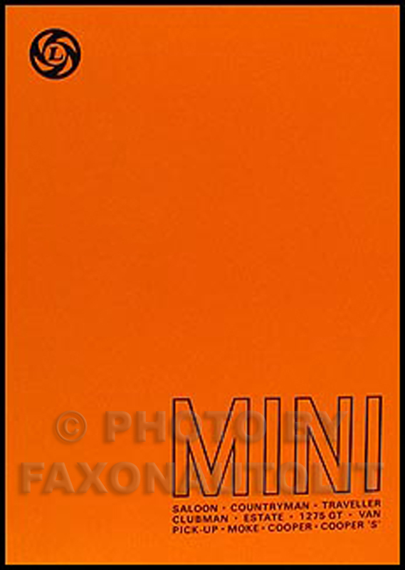 1959-1976 Mini Cooper Repair Manual Reprint