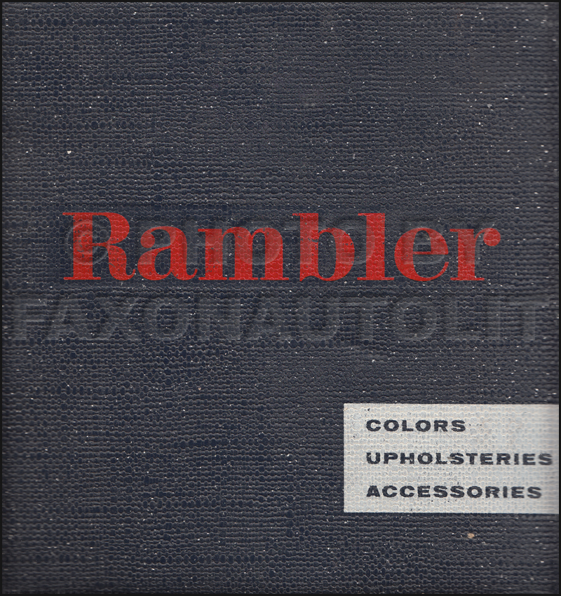 1959 AMC Rambler Color and Upholstery Dealer Album Original