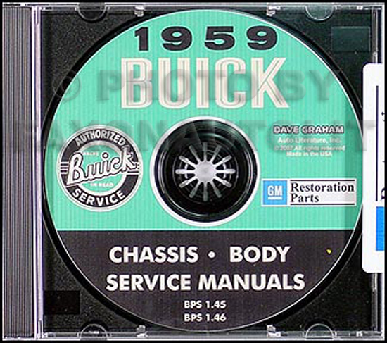 1959 Buick CD-ROM Shop Manual & Body Manual all models