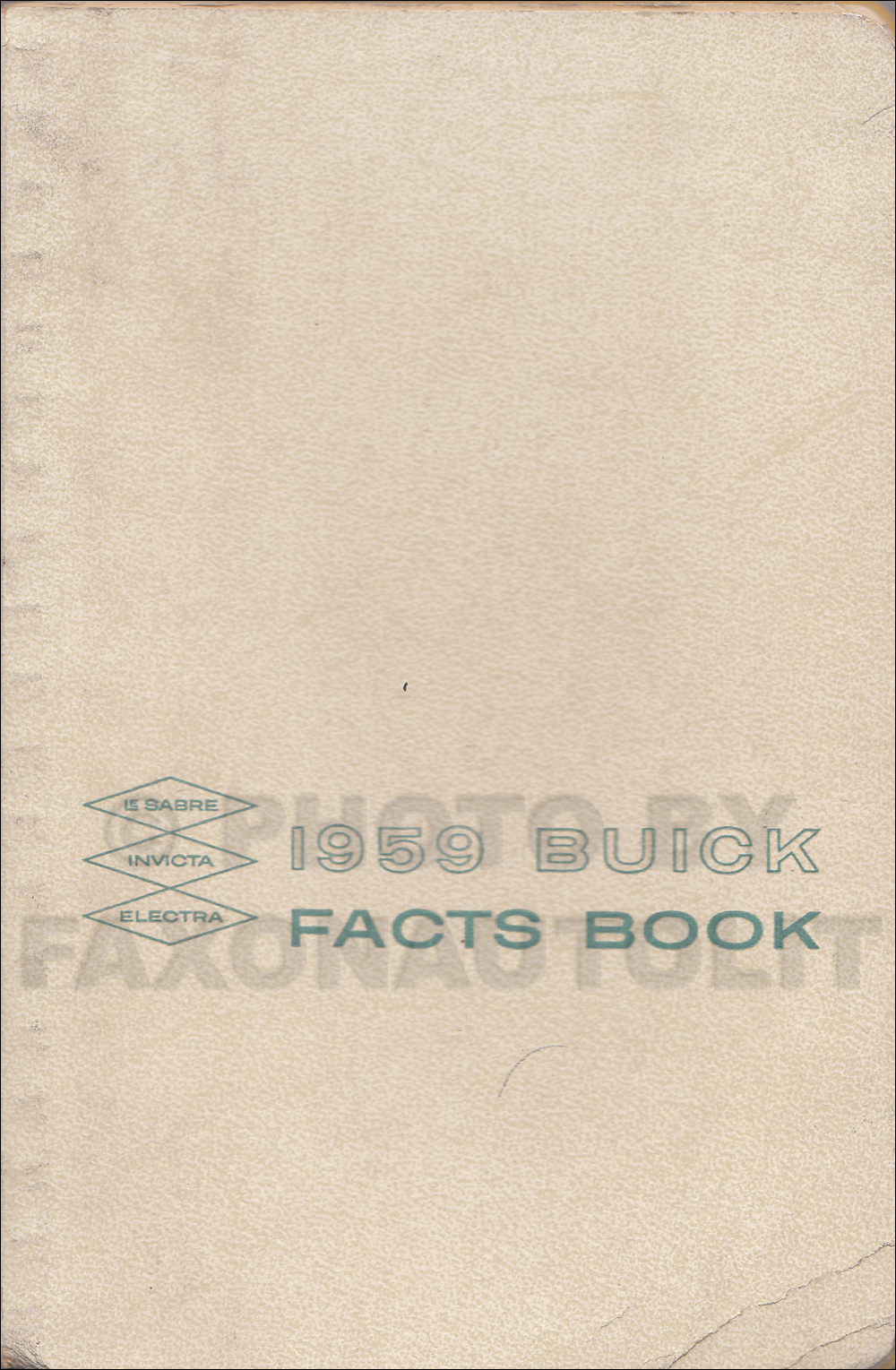 1959 Buick Facts Book Original