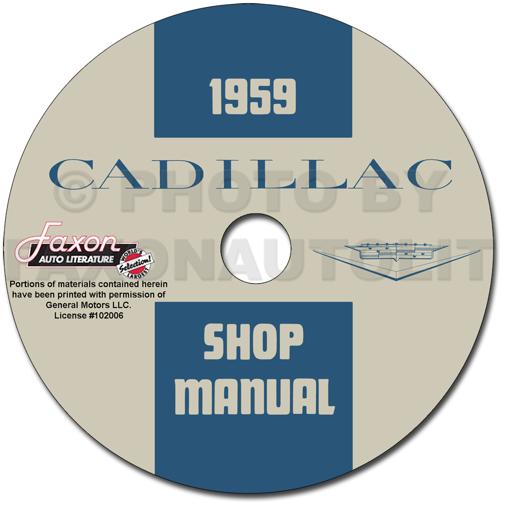 1959 Cadillac Repair Shop Manual CD-ROM
