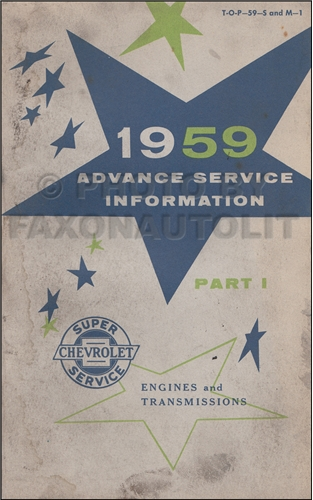 1959 Chevrolet Advance Service Training Manual part I Original
