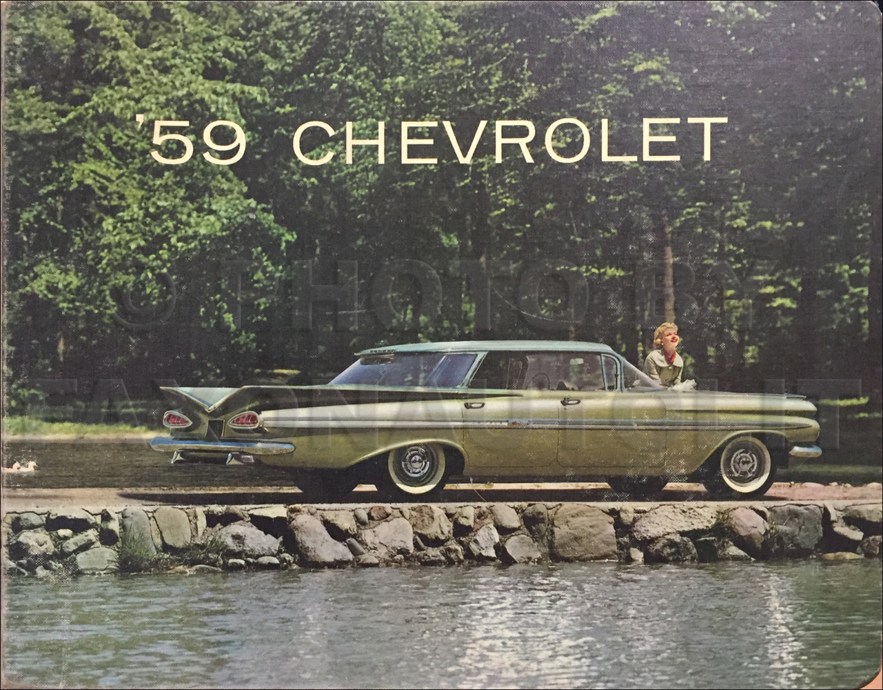 1959 Chevrolet Car Color and Upholstery Dealer Album Original