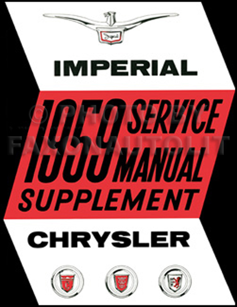 1959 Chrysler and Imperial Shop Manual Reprint Supplement