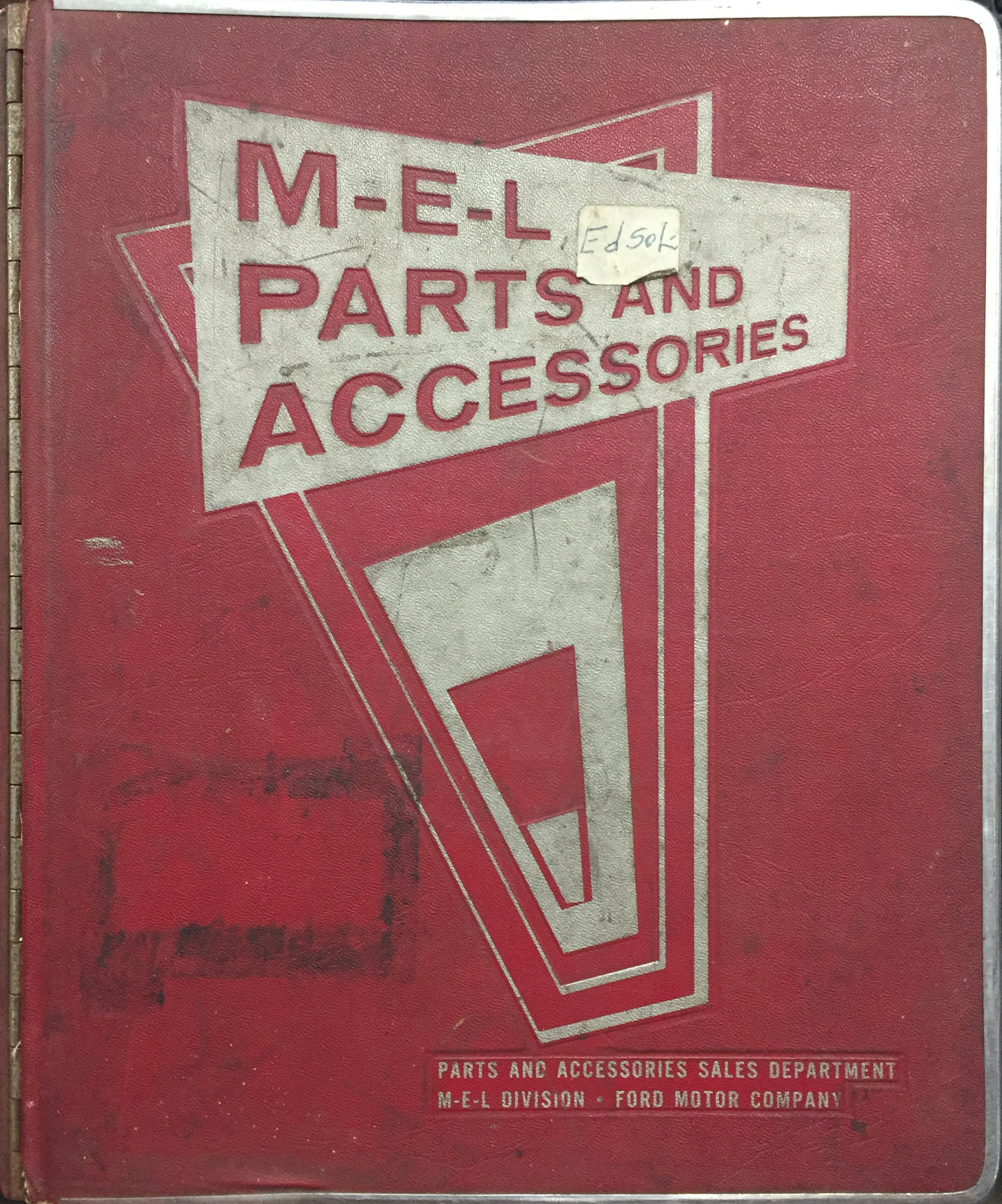 1959 Edsel Parts Book Original