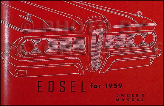 1959 Edsel Owner's Manual Reprint