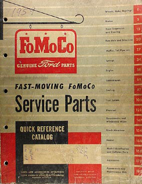 1959 Ford Fast Moving Parts Catalog Original