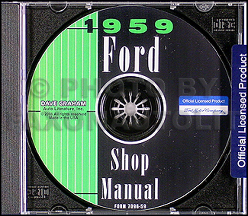 1959 Ford CD Shop Manual for all cars, retractable, & Ranchero