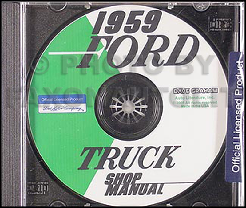 1959 Ford Pickup  U0026 Truck Repair Shop Manual Reprint