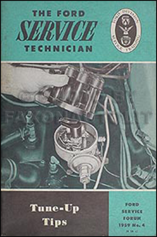 1959 Ford Tune Up Service Training Manual Original