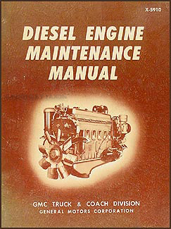1959-1971 GMC Inline 4-71, 6-71 Diesel Engine Repair Shop Manual Original