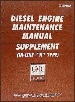 1964-1971 GMC 9500 Series 6-71N and 6-71NE Diesel Repair Shop Manual Supp.