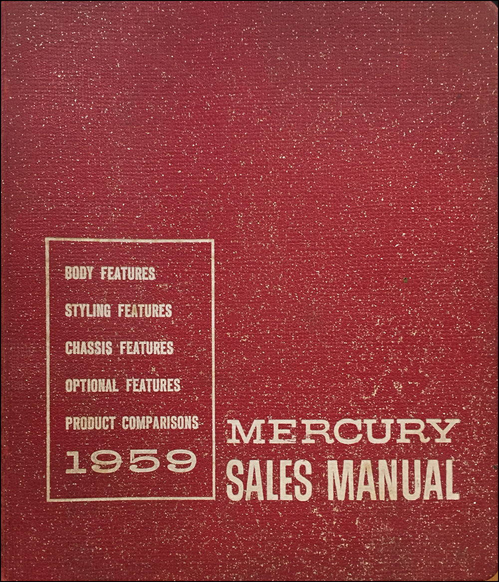 1959 Mercury Data Book Original