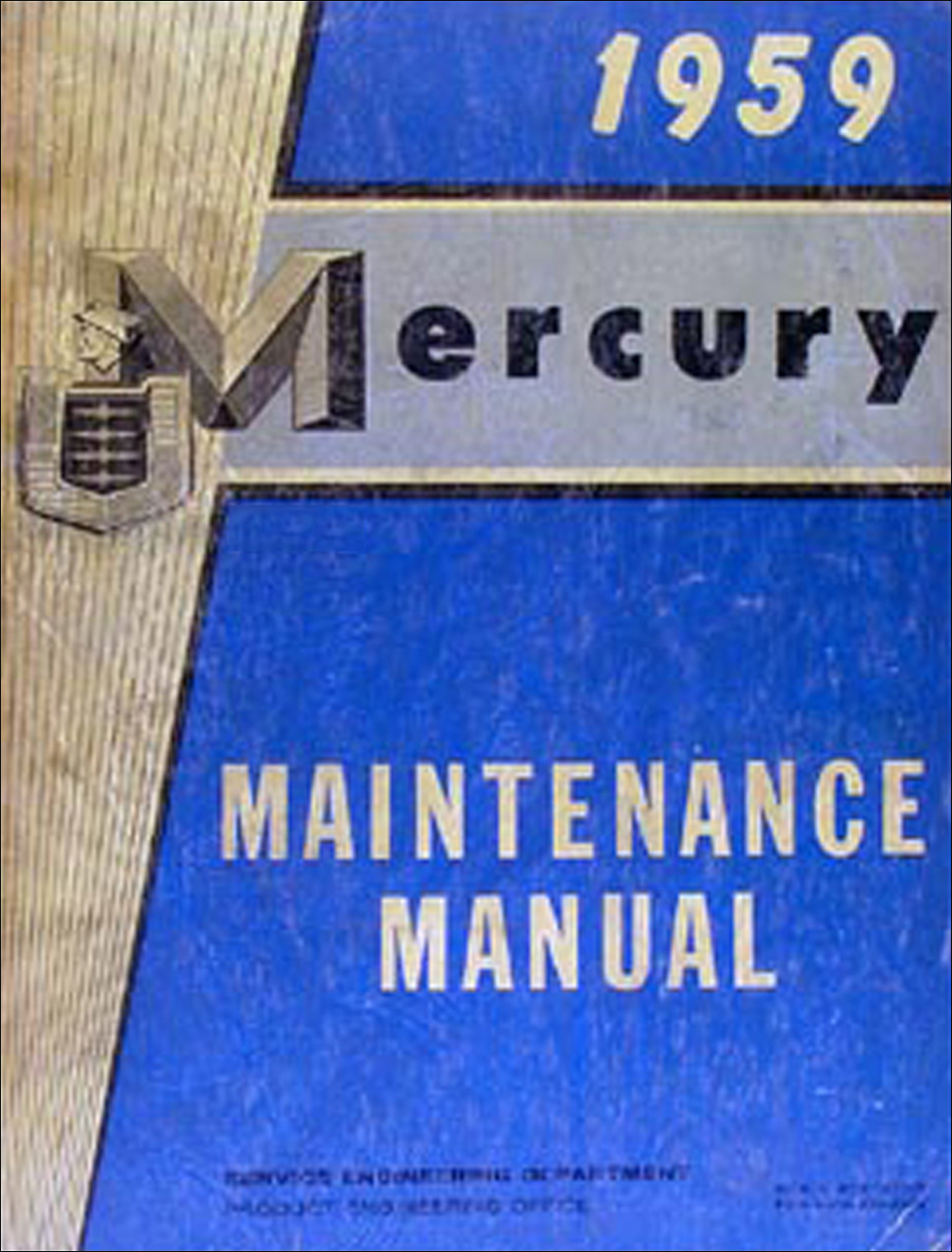 1959 Mercury Original Repair Manual