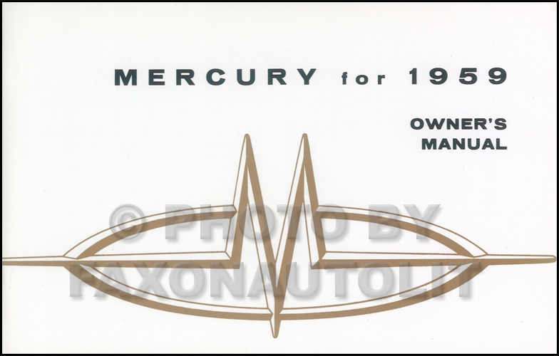 1959 Mercury Owner's Manual Reprint