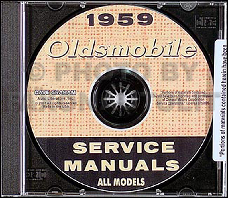 1959 Oldsmobile Repair Shop Manual CD-ROM, with New-Matic Suspension Manual