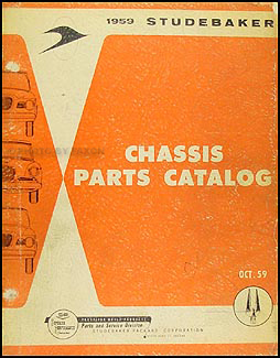 1959 Studebaker Car Mechanical Parts Book Original