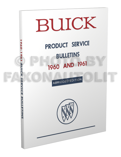 1960-1961 Buick Original Service Bulletins shop manual revisions