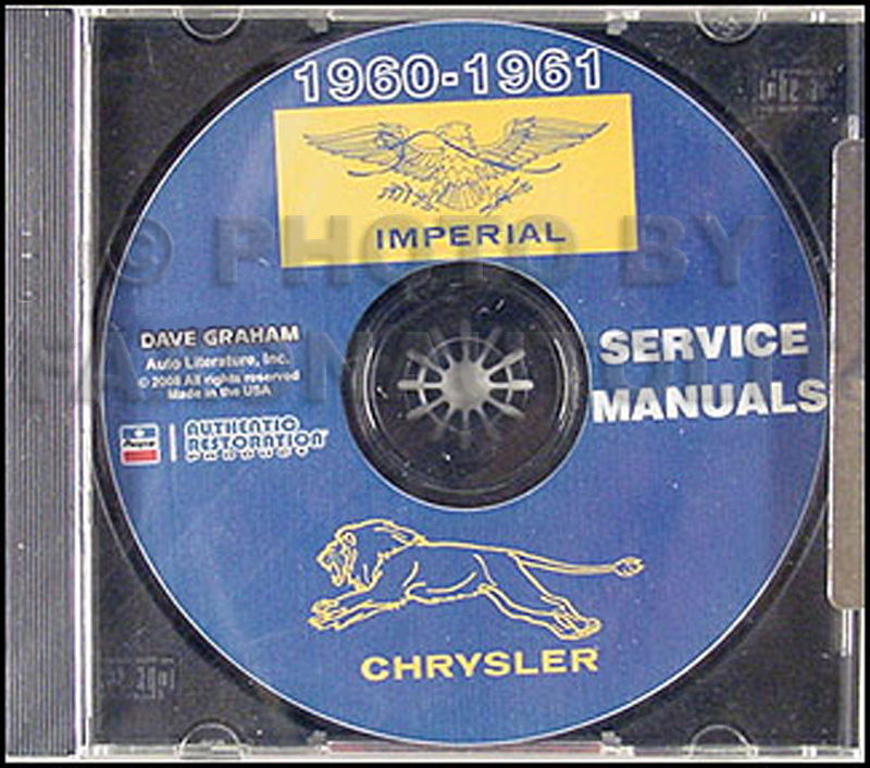 1960-1961 Chrysler and Imperial Shop Manual CD-ROM for all models