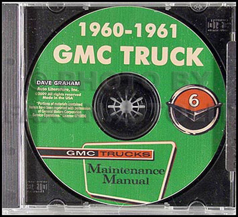 1960-1961 GMC 1000-5000 Shop Manual on CD-ROM