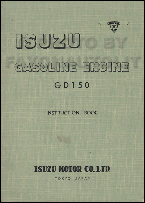 1960-1961 Isuzu Gasoline Engine Repair Shop Manual Original GD150 345 ci