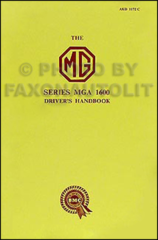 1960-1961 MGA 1600 Owner's Manual Reprint