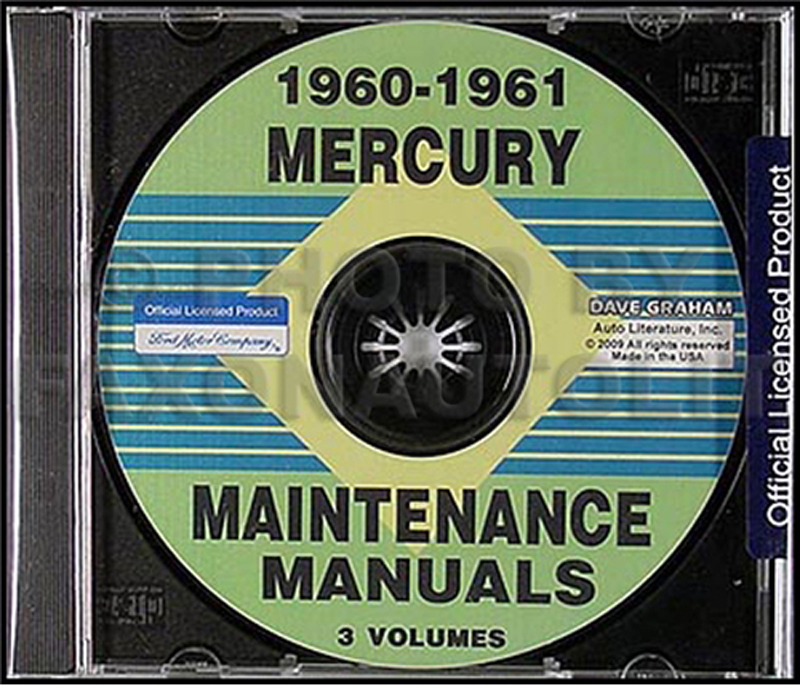 CD-ROM 1960-1961 Mercury Shop Manuals