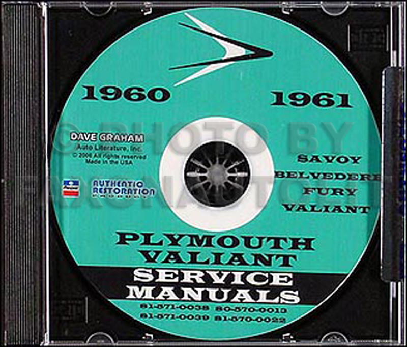1960-1961 Plymouth Shop Manual on CD
