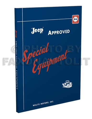 1960-1962 Jeep Special Equipment Catalog Reprint