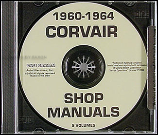 1960-1964 Corvair CD-ROM Shop Manual