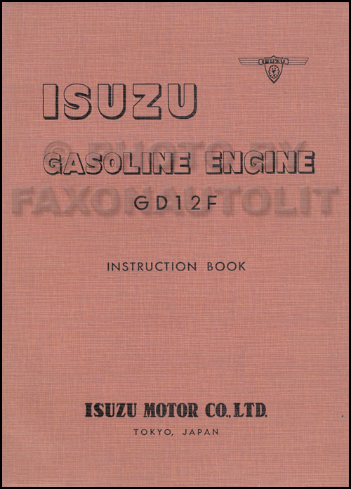 1960-1964 Isuzu Gasoline Engine Repair Shop Manual Original GD12 GD12F 345ci 5654cc